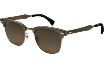 Ray-Ban CLUBMASTER ALUMINUM RB3507 Bifocal Prescription Sunglasses RB3507-138-M8-49 - Lens Diameter 49 mm, Lens Diameter 49 mm, Frame Color Brushed Gunmetal/gunmetal