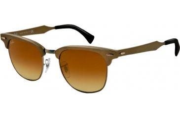 Ray-Ban CLUBMASTER ALUMINUM RB3507 Bifocal Prescription Sunglasses RB3507-139-85-49 - Lens Diameter 49 mm, Lens Diameter 49 mm, Frame Color Brushed Bronze/gunmetal