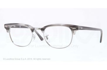 Ray-Ban Clubmaster Eyeglass Frames RX5154 5255-49 - Matte Stripped Grey Frame