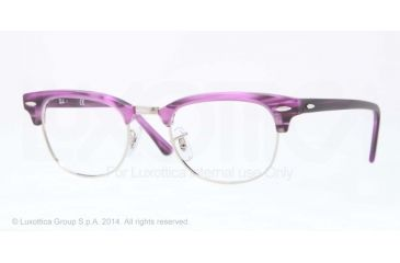 Ray-Ban Clubmaster Eyeglass Frames RX5154 5257-49 - Matte Stripped Violet Frame