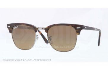 Ray-Ban CLUBMASTER FOLDING RB2176 Single Vision Prescription Sunglasses RB2176-1151M7-51 - Lens Diameter 51 mm, Frame Color Matte Dark Havana