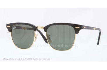 Ray-Ban CLUBMASTER FOLDING RB2176 Single Vision Prescription Sunglasses RB2176-901-51 - Lens Diameter 51 mm, Frame Color Black