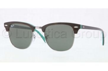 Ray-Ban Clubmaster RB3016 Sunglasses with No-Line Progressive Rx Prescription Lenses RB3016-1127-5121 - Lens Diameter 51 mm, Frame Color Top Shiny Havana