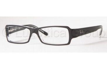 Ray-Ban Eyeglass Frames RX5104 2034-5213 - Top Black On Transparent