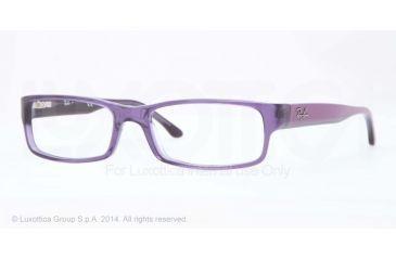 Ray-Ban Eyeglasses RX5114 with Rx Prescription Lenses 5230-52 - Trasparent Violet Frame