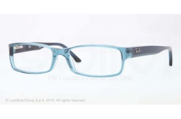 Ray-Ban Eyeglasses RX5114 with Lined Bifocal Rx Prescription Lenses 5235-52 - Trasparent Blue Frame