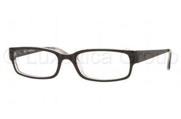 Ray-Ban Eyeglass Frames RX5142, Top Black On Transparent Frame w/Non-Rx 50 mm Diameter Lenses