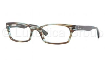 Ray-Ban Eyeglasses RX5150 with No-Line Progressive Rx Prescription Lenses 5163-4819 - Azure Transparent Brown Frame, Demo Lens Lenses