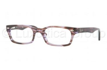 Ray-Ban Eyeglasses RX5150 with No-Line Progressive Rx Prescription Lenses 5165-4819 - Transparent Violet Brown Frame, Demo Lens Lenses