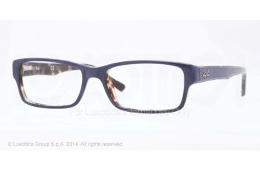 Ray-Ban Eyeglasses RX5169 with Rx Prescription Lenses 5219-52 - Top Blue On Havana Frame
