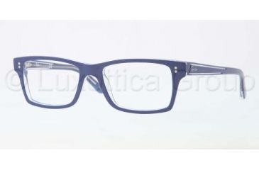 Ray-Ban Eyeglasses RX5225 with Lined Bifocal Rx Prescription Lenses 5187-5217 - Top Blue/Transparent Frame, Demo Lens Lenses