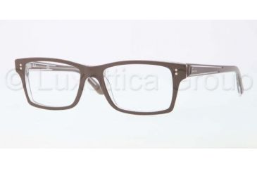 Ray-Ban Eyeglasses RX5225 with Lined Bifocal Rx Prescription Lenses 5188-5217 - Top Brown On Transparent Frame, Demo Lens Lenses