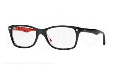 ab94226167e Ray-Ban Eyeglasses RX5228 with Rx Prescription Lenses 2479-50 - Top Black On