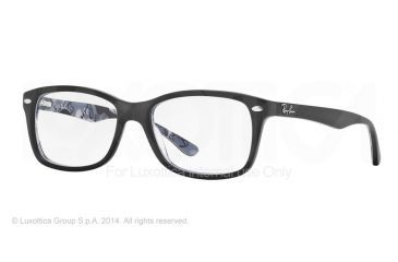Ray-Ban Eyeglasses RX5228 with Rx Prescription Lenses 5405-50 - Top Black On Texture Camuflage Frame