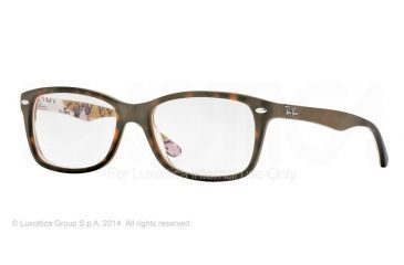 Ray-Ban Eyeglasses RX5228 with Rx Prescription Lenses 5409-50 - Top Havana On Texture Camuflag Frame