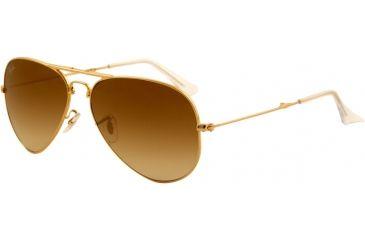 Ray-Ban Folding Aviator RB3479 Sunglasses 001/51-5814 - Arista Frame, Crystal Brown Gradient Lenses
