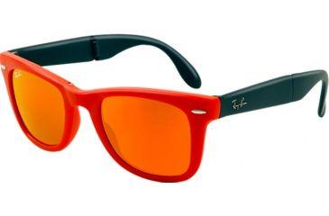 Ray-Ban Folding Wayfarer Prescription Sunglasses RB4105 RB4105-601969-5022 - Lens Diameter 50 mm, Frame Color Matte Orange