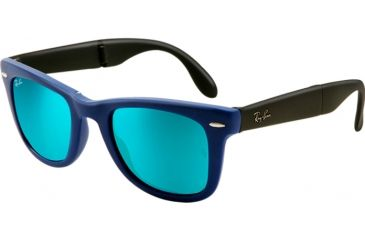 Ray-Ban Folding Wayfarer Prescription Sunglasses RB4105 RB4105-602017-5420 - Lens Diameter 54 mm, Frame Color Matte Blue