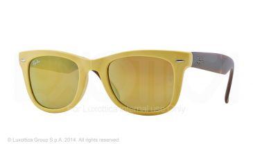 Ray-Ban Folding Wayfarer Prescription Sunglasses RB4105 RB4105-605193-50 - Lens Diameter 50 mm, Frame Color Matte Yellow