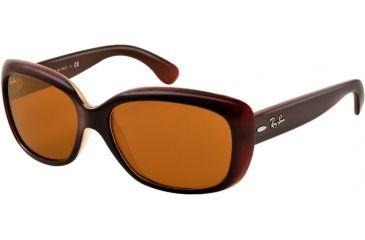 Ray-Ban Jackie OHH RB4101 Sunglasses with No-Line Progressive Rx Prescription Lenses RB4101-6036-58 - Lens Diameter 58 mm, Lens Diameter 58 mm, Frame Color Opal Pink Top Marc