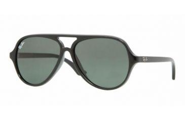 Ray-Ban Junior RJ 9049S Sunglasses Styles - Black Frame / Green Lenses, 100-71-5012