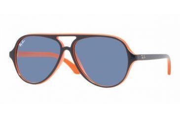 Ray-Ban Junior RJ 9049S Sunglasses Styles - Top Blue On Orange Frame / Blue Lenses, 178-7B-5012