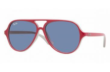 Ray-Ban Junior RJ 9049S Sunglasses Styles - Top Red/Fuxia On Gray Frame / Blue Lenses, 177-90-5012