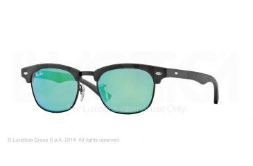 Ray-Ban Junior Bifocal Sunglasses RJ9050S for Kids with Lined Bi-Focal Rx Prescription Lenses RJ9050S-100S3R-45 - Lens Diameter 45 mm, Frame Color Matte Black