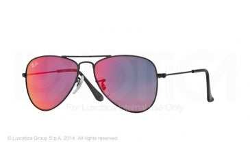 Ray-Ban Junior Sunglasses RJ9506S for Kids 201/6Q-50 - Matte Black Frame, Red Multilayer Lenses