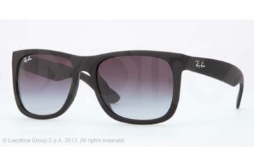 Ray-Ban JUSTIN RB4165F Single Vision Prescription Sunglasses RB4165F-622-8G-55 - Lens Diameter 55 mm, Lens Diameter 55 mm, Frame Color Rubber Black