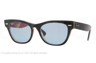 bff78119ca Ray-Ban LARAMIE RB4169 Sunglasses 107862-53 - Top Black on Blue Frame