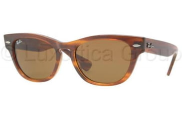 Ray-Ban LARAMIE RB4169 Bifocal Prescription Sunglasses RB4169-820-5318 - Lens Diameter 53 mm, Frame Color Striped Havana