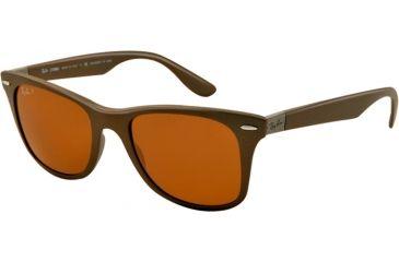 Ray-Ban LITEFORCE RB4195 Sunglasses 603383-52 - Brown Frame, Polar Brown Lenses