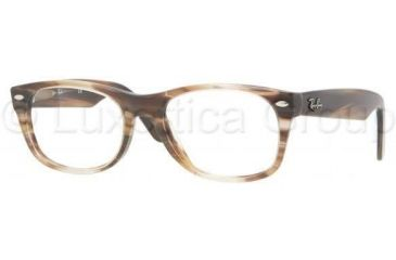 Ray-Ban New Wayfarer Eyeglasses RX5184 with Rx Prescription Lenses 5139-5218 - Striped Brown Frame