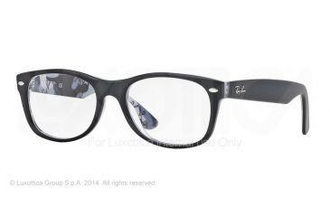 Ray-Ban New Wayfarer Eyeglasses RX5184 with No-Line Progressive Rx Prescription Lenses 5405-52 - Top Black On Texture Camuflage Frame