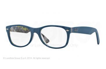 Ray-Ban New Wayfarer Eyeglasses RX5184 with No-Line Progressive Rx Prescription Lenses 5407-50 - Top Blue On Texture Frame