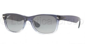 Ray-Ban New Wayfarer Shades, Faded Blue-Violet Frame, Faded Blue Lens, Polarized #822-78-5218