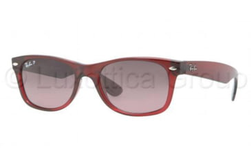 Ray-Ban New Wayfarer Sunglasses, Bordeaux Frame, Pink Violet Gradient Lens #843-77-5218