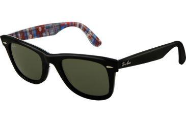 Ray-Ban Original Wayfarer RB2140 Sunglasses with No-Line Progressive Rx Prescription Lenses RB2140-1131-5022 - Lens Diameter 50 mm, Frame Color Top Black on Texture P