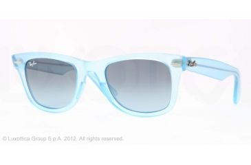 Ray-Ban Original Wayfarer RB2140 Sunglasses with No-Line Progressive Rx Prescription Lenses RB2140-60554M-50 - Lens Diameter 50 mm, Frame Color Demi Gloss Ice