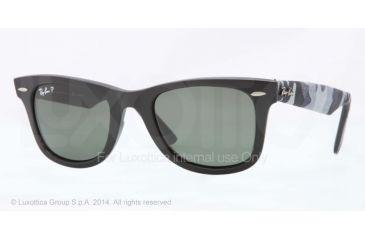 Ray-Ban Original Wayfarer Sunglasses RB2140 606658-50 - Matte Black Frame, Polar Green Lenses