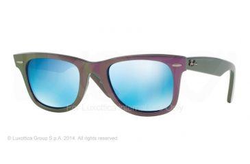 Ray-Ban Original Wayfarer RB2140 Sunglasses with No-Line Progressive Rx Prescription Lenses RB2140-611217-50 - Lens Diameter 50 mm, Frame Color Metallic Violet