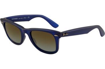 Ray-Ban Original Wayfarer RB2140 Sunglasses with No-Line Progressive Rx Prescription Lenses RB2140-887-96-5022 - Lens Diameter 50 mm, Frame Color Matte Blue