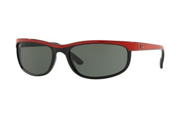 e82bdb5e19 Ray-Ban Predator 2 Sunglasses RB2027 6300-62 - Top Red On Black Frame