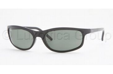 Ray-Ban RB 2030 Sunglasses Styles - Glossy Black Frame / Crystal Green Lenses, W3284-5716