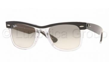 198cfefd8885b Ray-Ban RB 2143 Sunglasses Styles - Black Clear Frame   Crystal Gray  Gradient