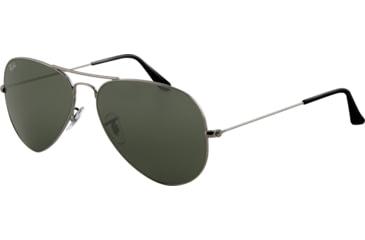 Ray-Ban RB3025 SV Prescription Sunglasses - Gunmetal Frame / 58 mm Prescription Lenses, W0879-5814