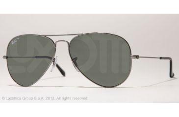 Ray-Ban Aviator Large Metal Prescription Sunglasses RB3025 RB3025-004-58-62 - Lens Diameter 62 mm, Frame Color Gunmetal