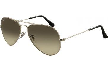 Ray-Ban Aviator Large Metal Bifocal Sunglasses RB3025 with Lined Bi-Focal Rx Prescription Lenses RB3025-003-32-5514 - Frame Color Silver, Lens Diameter 55 mm