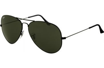 Ray-Ban RB 3026 Large Aviator Sunglasses, Black Frame, Crystal Gray Lenses, L2821-6214